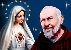 La Virgen Maria y el Padre Pio