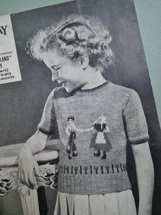 Vintage Knitting Pattern 1930s 1940s Childrens door sewmuchfrippery