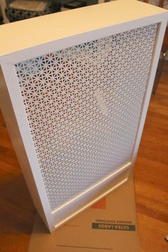 >>>Cheap Sale OFF! >>>Visit>> This easy DIY tutorial shows you how to make a radiator cover to cover those unsightly or unused radiators you might have in your home. Wall Heater Cover, Heater Covers, Diy Radiator Cover, Radiator Ideas, Diy Heater, Home Decoracion, Vent Covers, Small Bedroom Storage, Small Bedrooms