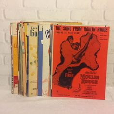100 Piece Lot of Vintage Sheet Music 1920s-1960s