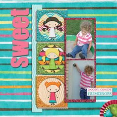 Pictures of my daughter.  Kit used: Sweets For My Sweet by Jen Yurko and Tami Miller available at http://www.mscraps.com/shop/tamimiller/?treemenu=y  Template by Pixels and Co.