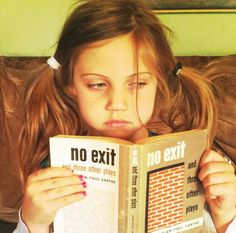 A six year old girl comments on book covers, is spot on.