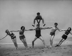 leap-frog beach, 1930 - getty images