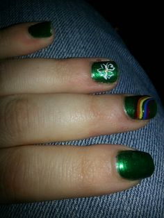 St patrick day nails