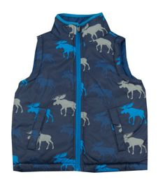 Hatley Polar Moose Puffer Vest- Toddler/Boy