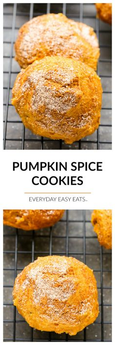 These soft, cake-like Pumpkin Spice Cookies are the perfect way to celebrate fall and welcome the warmth of the holidays. Pumpkin Recipes, Fall Recipes, Cookie Recipes, Snack Recipes, Dessert Recipes, Chocolate Brownie Cake, Pumpkin Spice Cookies, Easy Eat, Pinterest Recipes