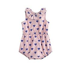 Baby ruffle-neck one-piece in fuzzy hearts