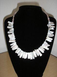Genuine Biwa/Lavender Freshwater pearl by CreationsbyMaryEllen, $17.75