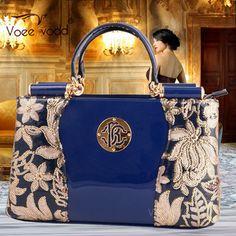 Korean Style Genuine Leather Embroidery Designer Women Hand Bags High Quality VOEEVODD Brand Handbags 60660