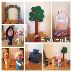 FRAU HOLLE -Gebrüder Grimm- In einem Dorf lebte eine Mutter mit zwei Töchtern. Eine Tochter war klug,fleißig und schön, die and...