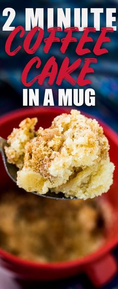 Coffee Cake In a Cup! The Best Coffee Mug Cake, ever! Mug Recipes, Dessert Recipes, Cooking Recipes, Desserts, Cake Recipes, Vegetarian Recipes, Snack Recipes, Coffe Mug Cake, Best Coffee Mugs