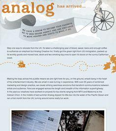 Analog Creative (http://www.analog.la)  ...Lovely digital design.