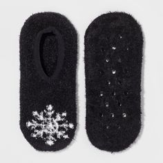 Women's Snowflake Liner Socks Gilligan & O'Malley Black Heather One Size