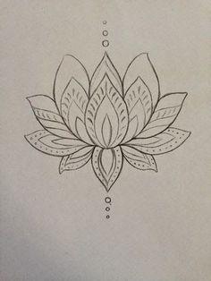 Cool Black Outline Lotus Flower Tattoo Design By Mmenjurag