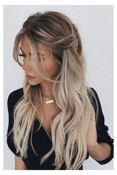 Wedding Hairstyles For Long Hair, Quick Hairstyles, Down Hairstyles, Hairstyle Wedding, Gorgeous Hairstyles, Formal Hairstyles, Hairstyles 2018, Elegant Hairstyles, Curled Hairstyles For Medium Hair