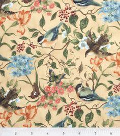 vintage looking bird fabric