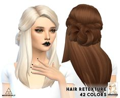 Hair retexture / LumiaLoverSims Sawyer / 42 colors