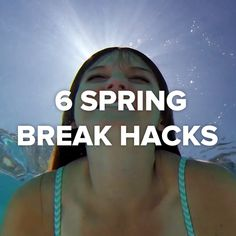 6 Spring Break Hacks #hacks #summer #mermaid #hat #dye