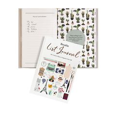 """If you're drawn to the self-reflective aspects of journaling but aren't keen on keeping a daily diary, our Breathe List Journal is for you! Filled with """"101 Creative Ways to Organize Your Life, """"the journal is divided into five sections—Escape, Living, Mindfulness, Creativity, and Well-being—each filled with writing prompts designed to help you focus on your passions and goals, including """"things I could do if I were brave enough,"""" """"recipes I would like to master,"""" """"my daily routines and ways…"""