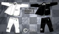 """The Rook II"" by CTRL Industries. Brazilian Jiu Jitsu Gi Kimono."