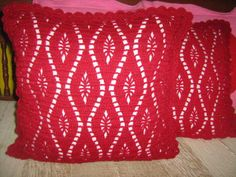 16 inches Red pillow Cover / Handmade Pillow / by NoongNing, $39.00