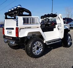 USA White Hummer Style Ride-on Car for Kids Years Old with Remote Control Kids Ride On Toys, Toy Cars For Kids, White Hummer, Big Ride, Childrens Ebooks, Outdoor Fun For Kids, Baby Doll Nursery, Rc Radio, Baby Alive Dolls