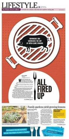"""""""All Fired Up"""" #Newspaper #GraphicDesign #Layout"""
