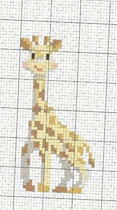 Sophie the Giraffe - cross stitch chart Cross Stitch For Kids, Cross Stitch Baby, Cross Stitch Animals, Cross Stitch Charts, Cross Stitch Designs, Cross Stitch Patterns, Cross Stitching, Cross Stitch Embroidery, Embroidery Patterns