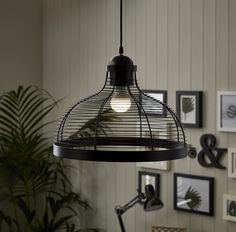 Our Black Wire Pendant Light adds a real industrial feel to any room.
