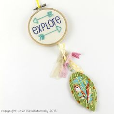 Mini Dreamcatcher Explore Travel Feather Cute Arrows Wall Hanging Nursery Art. by lova revolutionary