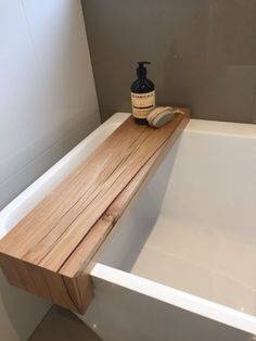 These beautifully hand crafted bath caddies are made with locally sourced Victorian ash timber all caddies are one of a kind Featuring A rustic top made . Ux Design, House Design, Small Bathroom, Master Bathroom, Bath Board, Timber Shelves, Brighton Houses, Wooden Bath, Radiator Cover