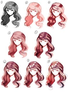 Fantasting Drawing Hairstyles For Characters Ideas. Amazing Drawing Hairstyles For Characters Ideas. Digital Painting Tutorials, Digital Art Tutorial, Art Tutorials, Art Sketches, Art Drawings, Personajes Studio Ghibli, Drawing Hair Tutorial, Hair Reference, Art Graphique