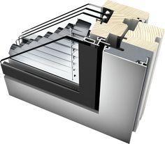 HV 350 Dřevohliníkové- okno integrovaná žaluzie vně, na solár, z vnější strany rám a křídlo zalícované