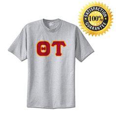 Theta Tau Fraternity Standard Lettered T-Shirt   Something Greek   #ThetaTau #fraternitymerchandise #standards #somethinggreek