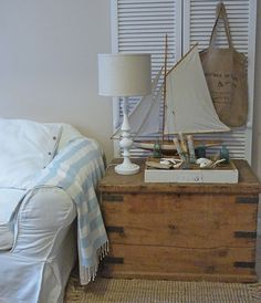 Rustic, nautical side table