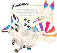 commission: karma by BabyWolverines Cute Animal Drawings, Animal Sketches, Cute Drawings, Anime Animals, Cute Animals, Amazing Beasts, Cute Fantasy Creatures, Creature Drawings, Furry Drawing