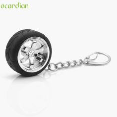 Adroit  Popular Fashion Mini Car Auto Rim Wheel Shaped Metal Tyre Chain Ring Pendant For Bag & Key 18S61228 drop shipping