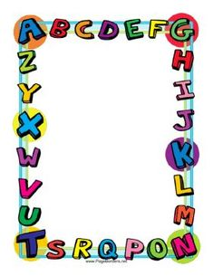 FREE!!!   This colorful alphabet border is great for kids and school projects.