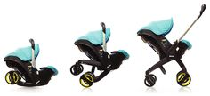 Holy Cow.  A car seat that converts to a stroller in a snap. (And it's super-safety certified by stringent European standards as a car seat and a stroller.)