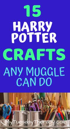 These craft ideas are great as Harry Potter party activity or do them on a rainy day with your favorite Potterhead. Harry Potter Party Games, Harry Potter Activities, Harry Potter Day, Harry Potter Party Decorations, Harry Potter Bookmark, Harry Potter Birthday, Diy Gifts For Kids, Crafts For Boys, Diy For Teens