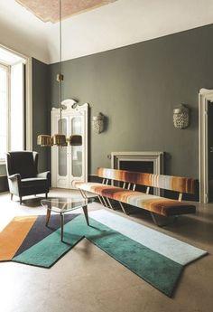 Déco graphique et sofa vintage chic