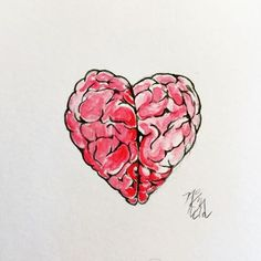 하트뇌 #heart #brain #tattoo #tattoodesign #design #drawing #art #color #colorwork #illust #illustraion #일러스트 #타투 #도안 #하트
