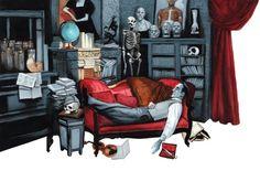 "Sherlock Holmes ""A Study in Scarlet"" A. Conan Doyle by Fernando Vicente, via Behance"