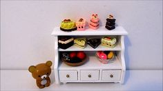 Rilakkuma yummy cakes doll house miniatures