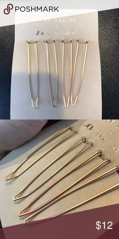 Chloe and Isabel and Jen Atkin hair pins Brand new C+I hair pins by Jen Atkin, two gold and two rose gold Chloe + Isabel Jewelry