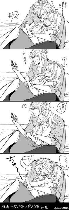 Anime Couples Manga, Cute Anime Couples, Anime Manga, Anime Girls, Sword Art Online Manga, K Project Anime, Little Witch Academy, Fantasy Couples, Couples Cosplay