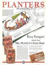 1930 i ad planters peanuts paint book kids sled dogs poem
