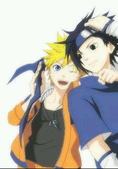 Naruto ~ SasuNaru Sasuke x Naruto Naruto Vs Sasuke, Anime Naruto, Naruto Shippuden, Manga Anime, Sakura E Sasuke, Naruto Team 7, Fanarts Anime, Anime Guys, Gaara