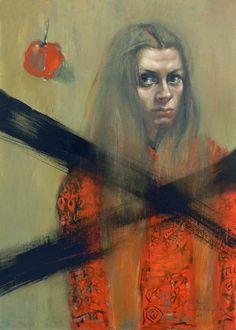 Barbara Porczyńska, Temptation, oil on canvas 2014
