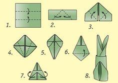 How to fold bunny ears napkin.